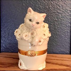 Lenox Accents - Lenox Cat Trinket Boxes